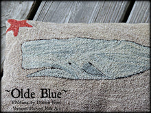Olde Blue Primitive Whale Punch Needle Embroidery Pattern