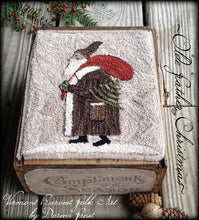 Olde Father Christmas Primitive Punch Needle Embroidery Pattern