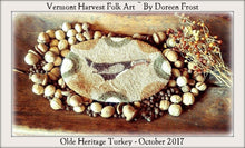Olde Heritage Turkey Punch Needle Emboridery Pattern