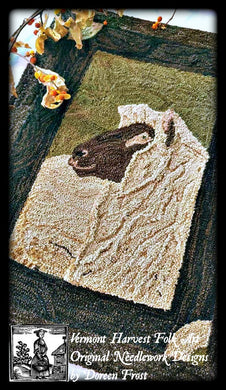 Olde Heritage Sheep~ Rug Hooking Pattern On Primitive Linen