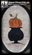 Olde New England Pumpkin Punch Needle Embroidery Pattern