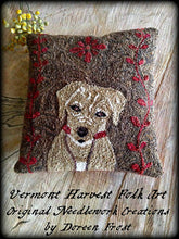 Oliver James Frost Yellow Labrador Retriever Primitive Punch Needle Embroidery Pattern
