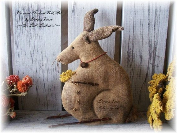 Sir Dilli Dilliston Primitive Rabbit Sewing Pattern