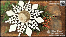 Winter Wonder Primitive Snowflake Christmas Tree Ornament Punch Needle Embroidery Pattern