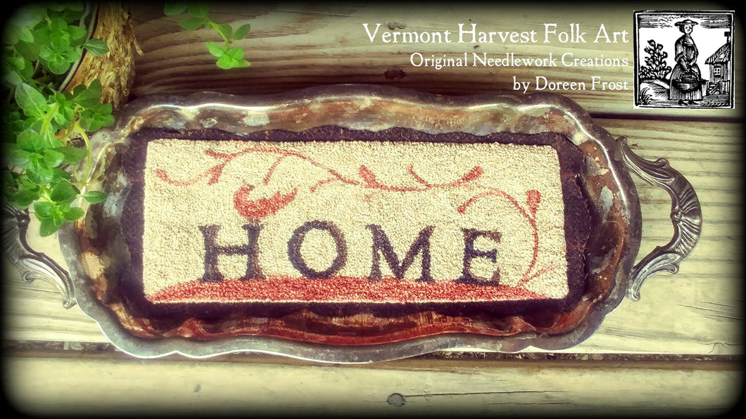 HOME IS WHERE THE HEART IS Punch Needle Pattern Options