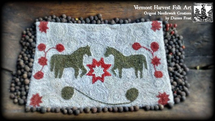 ~Maggie's Mares Punch Needle Embroidery Pattern~