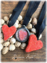 Needle Felted Heart Locket