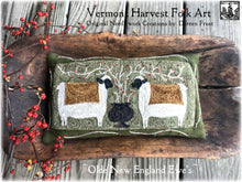Olde New England Ewes ~ Pattern On Primitive Linen