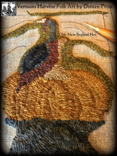 Olde New England Hen ~ Pattern On Primitive Linen