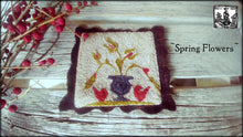 Spring Flowers Primitive Punch Needle Pattern