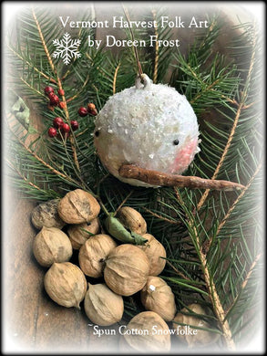 Spun Cotton Snow Folke Yuletide Ornaments