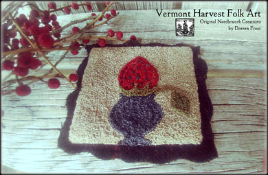 Prize Winning Berry Primitive Punch Needle Pattern