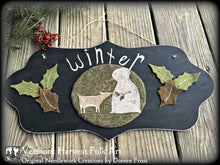 Winter Woodland Friends Punch Needle & Wool Applique Pattern.