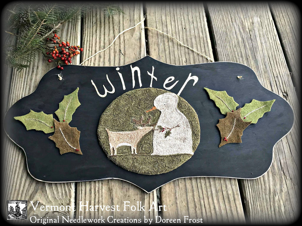 Winter Woodland Friends FINISHED PIECE