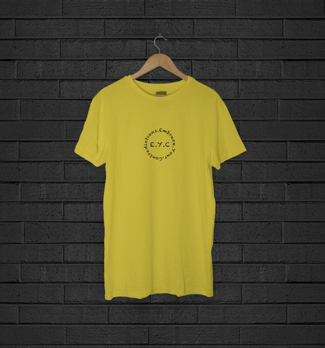 Short Sleeve T-Shirt: E.Y.C Classic (Yellow)