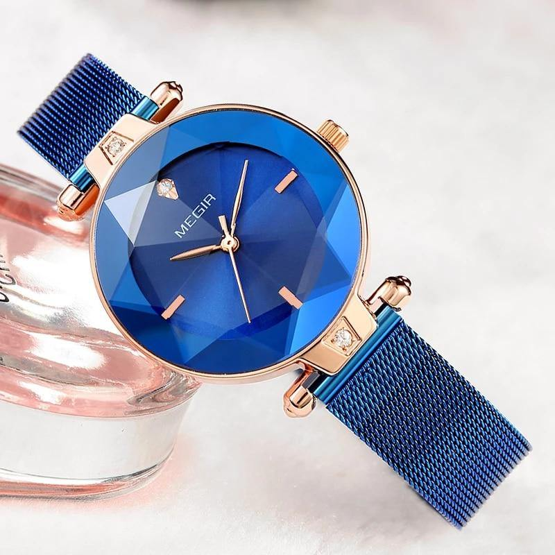 Megir SW4209L - Rose Gold Blue - Statement Watches