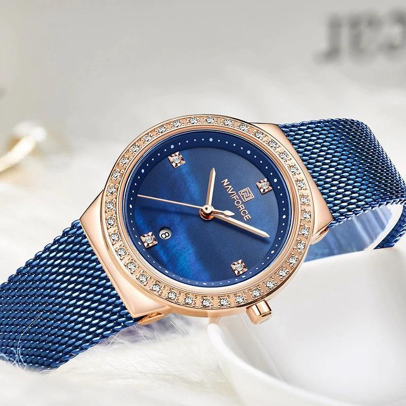 Naviforce SW5005 - Blue/Rose Gold