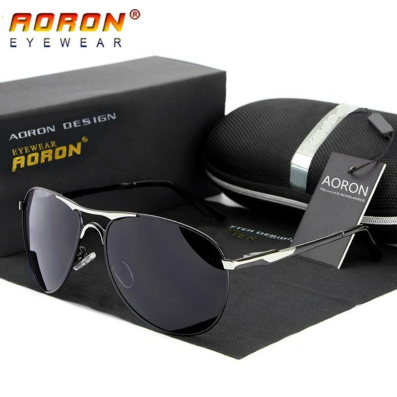Aoron Aviator Polarized Black
