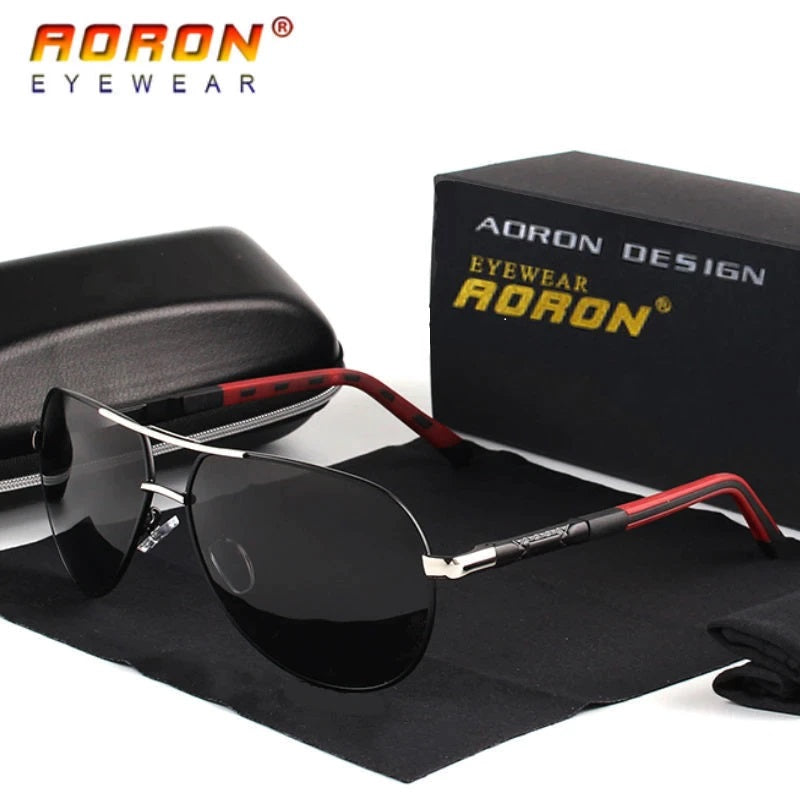 Aoron Aviator Polarized Black v2