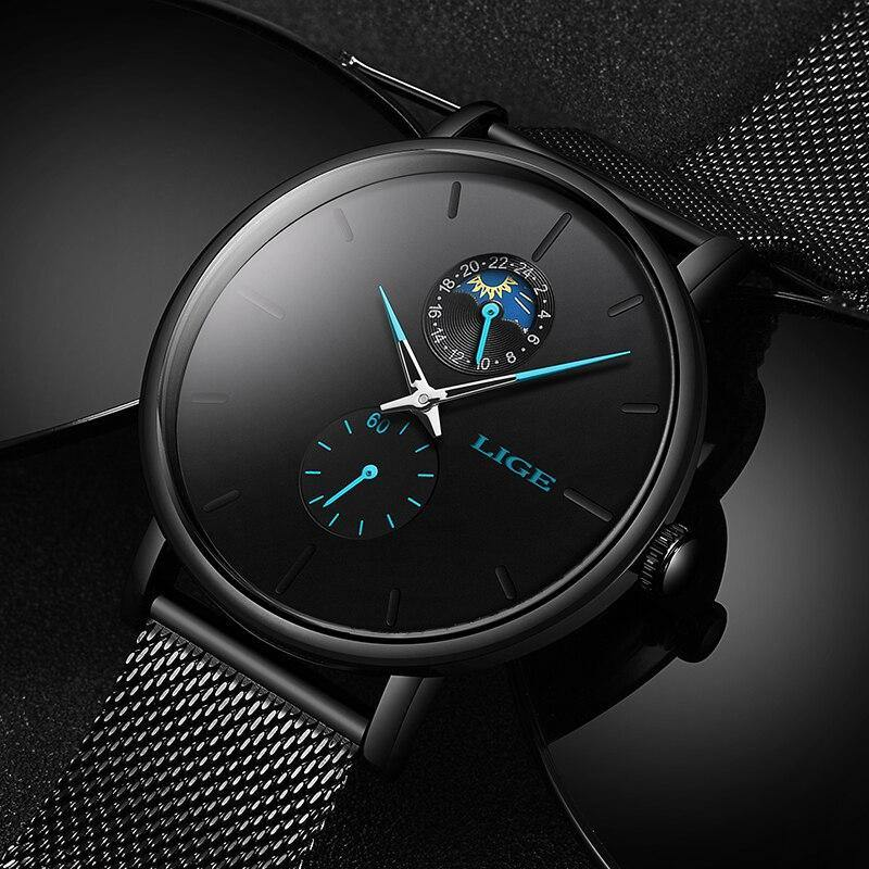 Lige SW9955 Black - Statement Watches