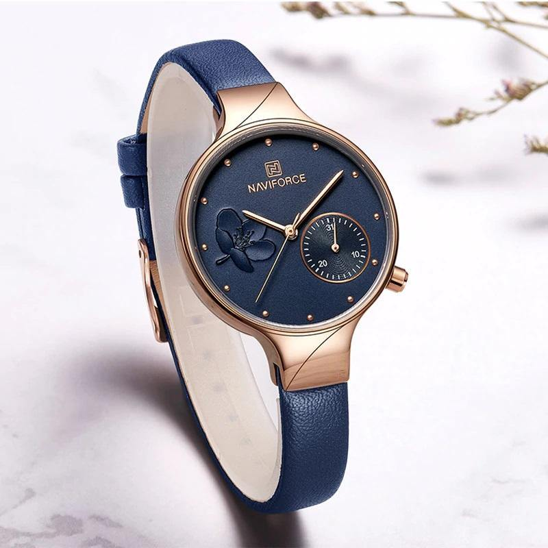 Naviforce SW5001 - Rose Gold Blue - Statement Watches