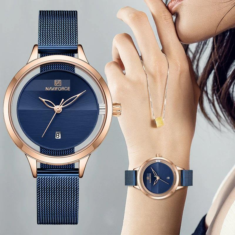 Naviforce SW5014 - Rose Gold Blue - Statement Watches
