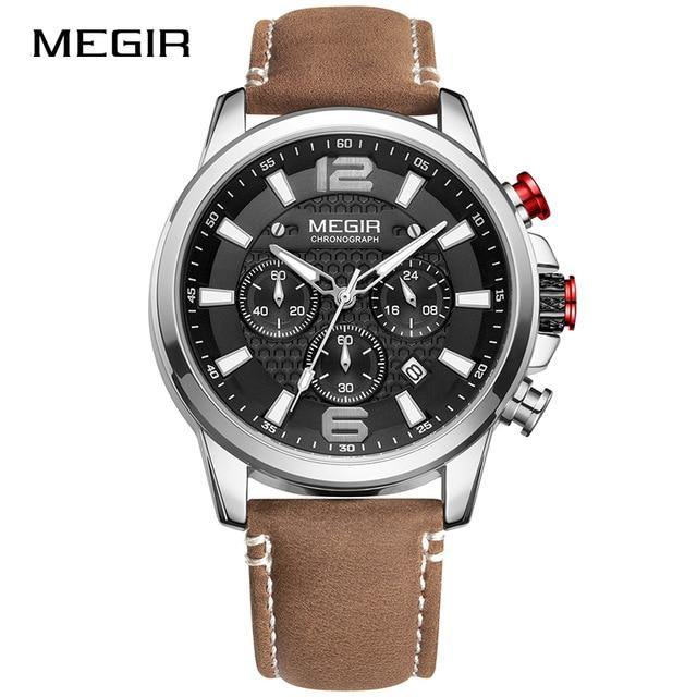 Megir SW2156 Chronograph - Silver Brown