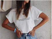 Everything will be okay in the end. If it's not okay, it's not the end broderie t-shirt john lenon fabrique main en france