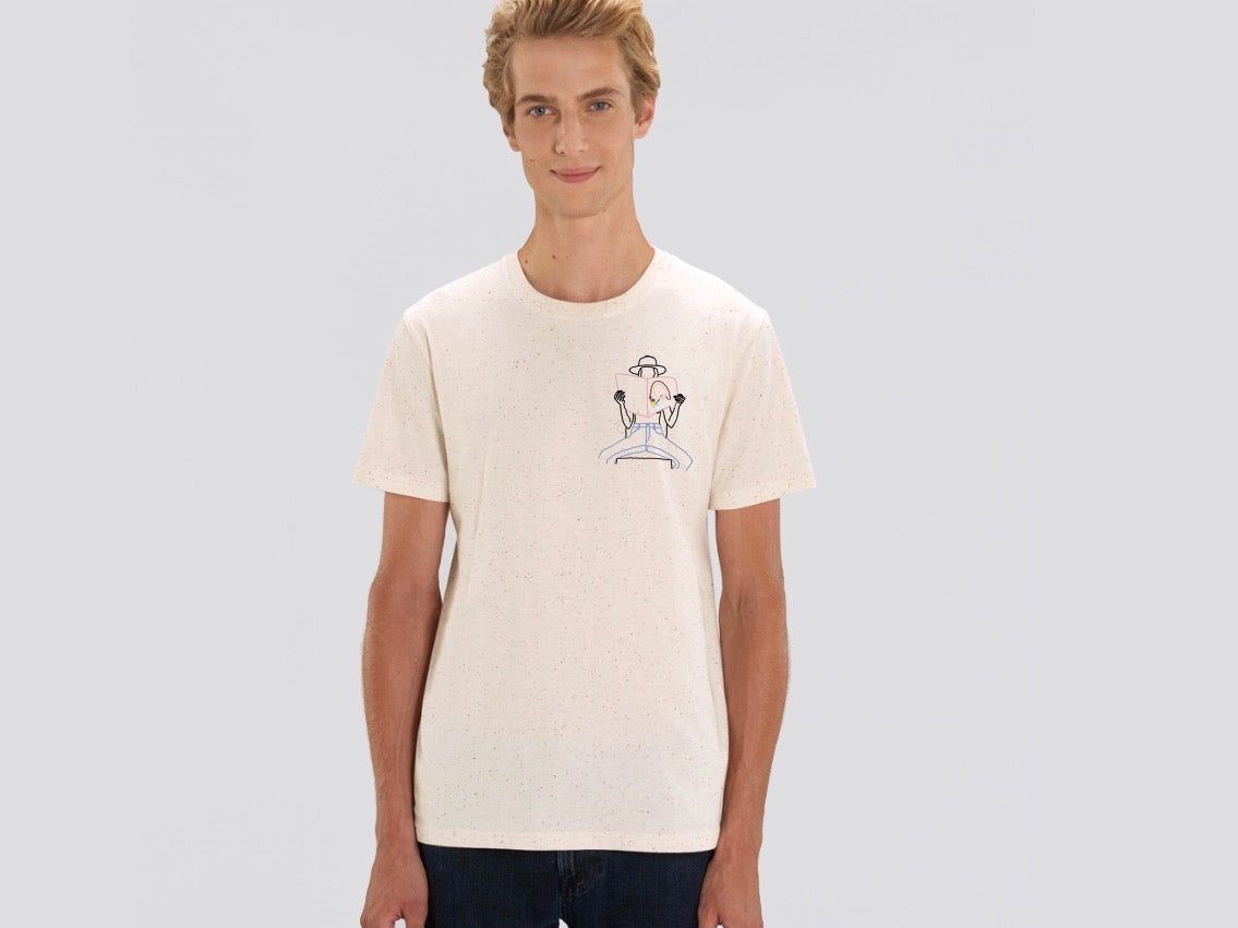 sex education petit manuel broderie t-shirt blanc unisexe brode main en france