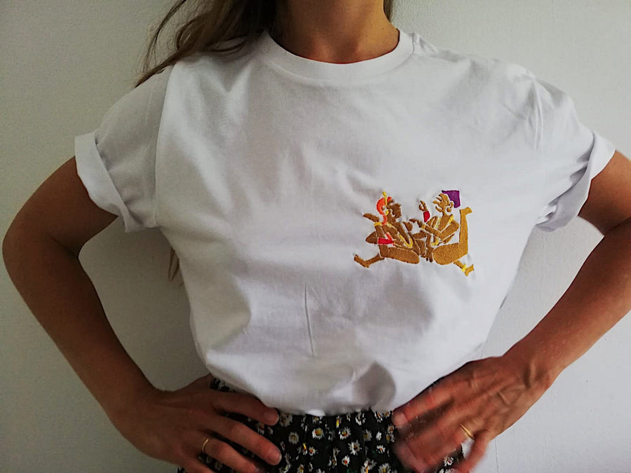 t-shirt unisexe broderie main fabrique en france lafrenchpique consommer local