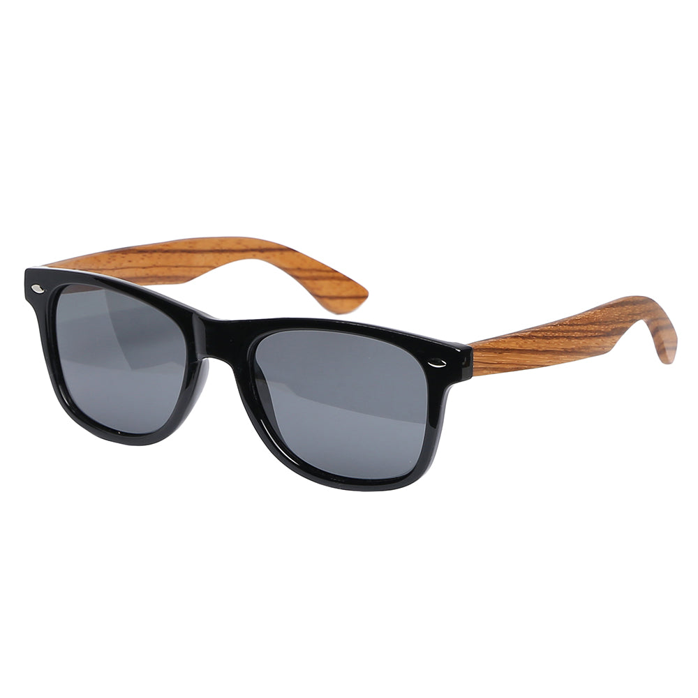 Aspect Eyewear Bamboo Wayfarer Polarised Sunglasses
