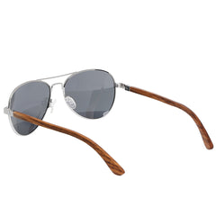 Aspect Eyewear Bamboo Aviator Polarised Sunglasses