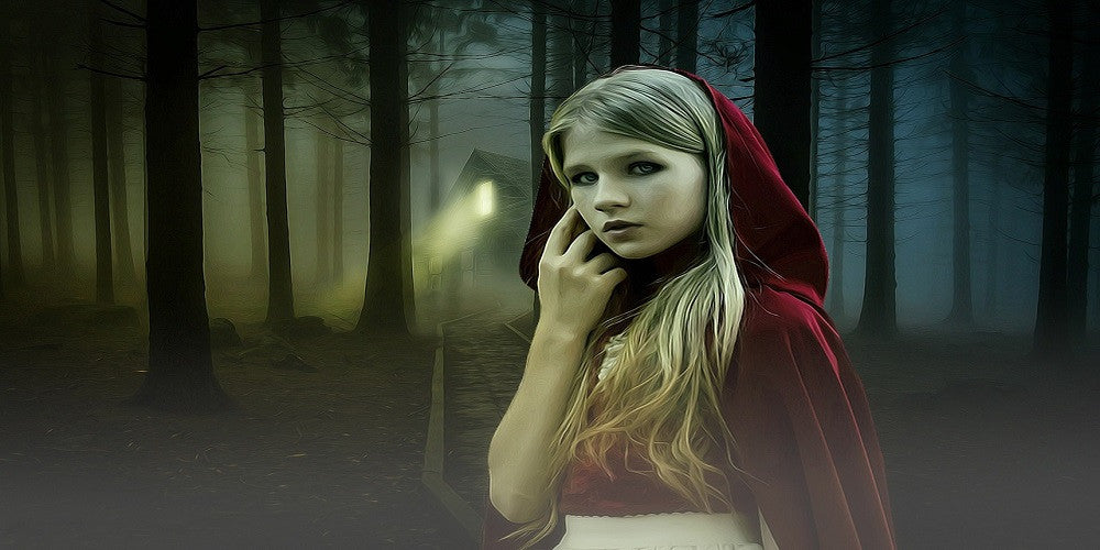 Beautiful Gothic Girl In The Woods