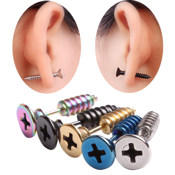 Gothic Punk Stud Earrings (5 Pairs) - My Gothic Addiction
