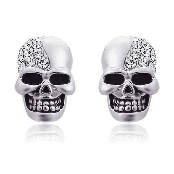 Punk Rock Skull Head Stud Earrings - Free Shipping
