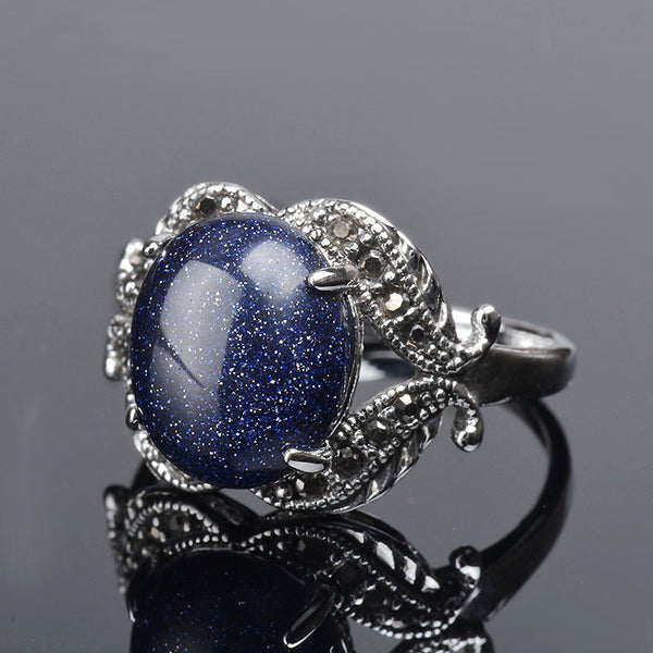 Blue Sand And Night Inspired Vintage Ring - My Gothic Addiction
