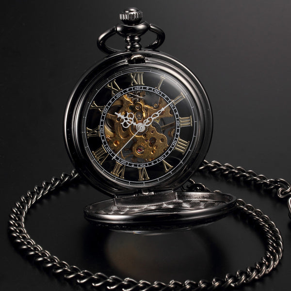 Steampunk Mechanical Open Face Retro Watch