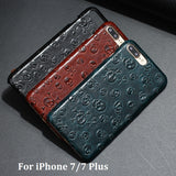 Luxury 3D Pirate Skull Leather iPhone Case