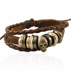 Vintage Braided Leather Bracelet - Free Shipping