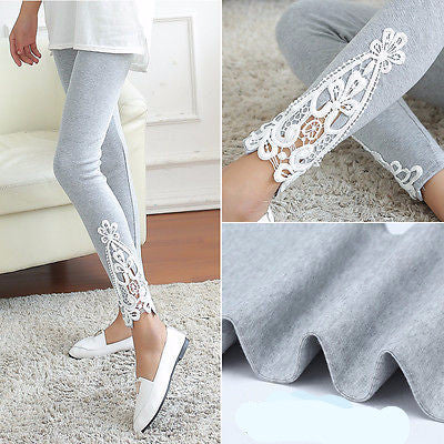 Lace Crochet Skinny Stretch Jeggings Pants - Free Shipping - My Gothic Addiction