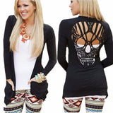 Casual Back Hollow Skull Jumper - My Gothic Addiction