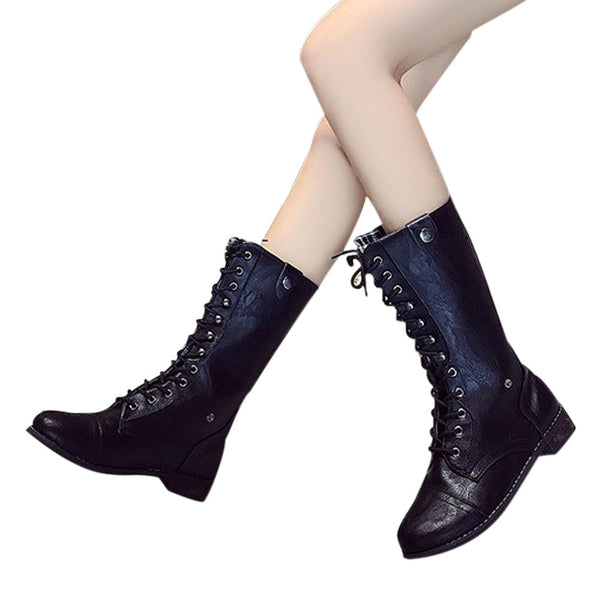 Punk Gothic Lace-Up Boots