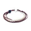 Amaranthine Satin strings white Pearls bracelet
