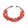 Amaranthine rose and red multi strings coral bracelet