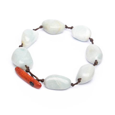 Amaranthine Statement Amazonite bracelet