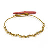 Coral with golden polyhedrons bracelet - SOLD OUT