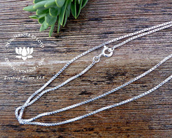 silver box chain, 925 sterling