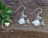 sterling silver fish earrings