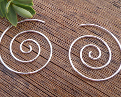 sterling silver spiral earrings