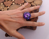 blown glass adjustable ring